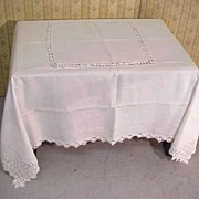Tablecloth Heirloom Banquet Linen Filigree Lace