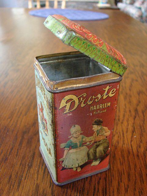 Advertising Tin 1904 Dutch Chocolate Droste' Cocoa Holland Antique