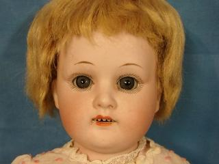 """German Bisque Doll Kid Body Signed Welsh & Co. MOA Max Oscar Arnold 18"""" Antique"""