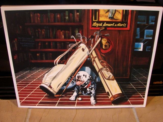 "Sports Golf Art  Jason Denaro Limited Edition Print ""The Lost Ball""  Rare Artist Proof"