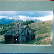 "Barn at ""Telluride"" San Juan Mountains Professional Photograph Signed Derick"