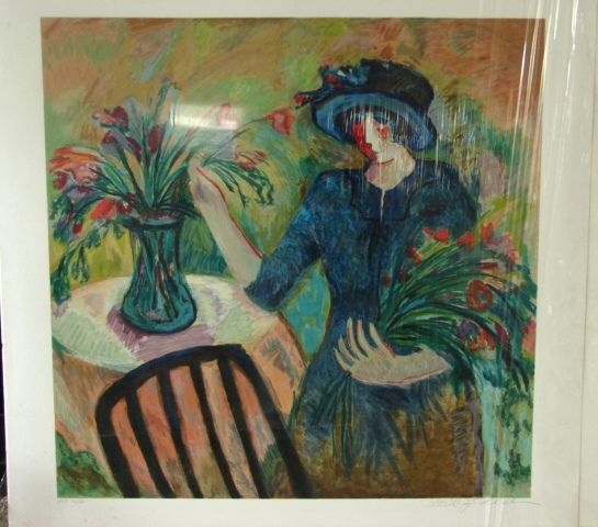 "Barbara Wood Artist Proof Rare Limited Edition Print ""Fall Bouquet"""
