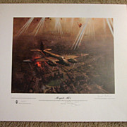 "Scarce Aviation WWII Limited Edition Print Terence Cuneo ""Mosquito Mk VI"" artist & pilot signed 1978"