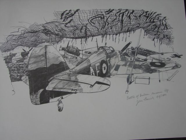Battle of Britain Limited Edition Print John Thirsk  WWII Aviation Art Vintage