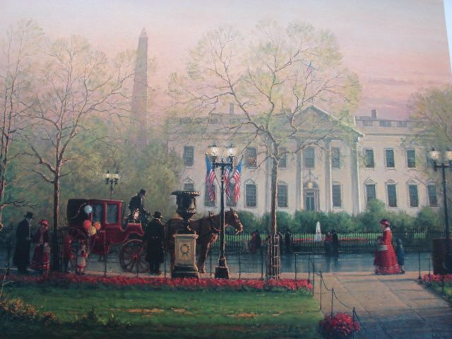 "G. Harvey Limited Edition Print  ""1600 Pennsylvania Avenue"" Historical Treasury Collection"