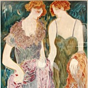 SISTERS Barbara Wood Rare Limited Edition #252/350 Serigraph Print Custom Gallery Framed Stunning