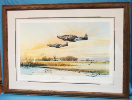 Robert Taylor Closed WWII Limited Edition Print Home At Dusk Custom Conservation Framed  Pilots Signed Autographs
