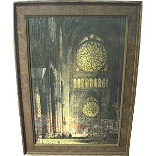 Jacobi Re-Proof Rheims Cathedral (The Rose Window)