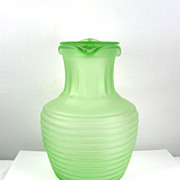 Hocking Green Depression Glass Beverage Server