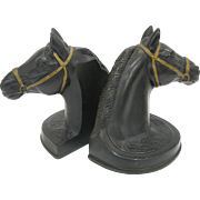 Pair Vintage 1950s A Becker Horse Head Bookends