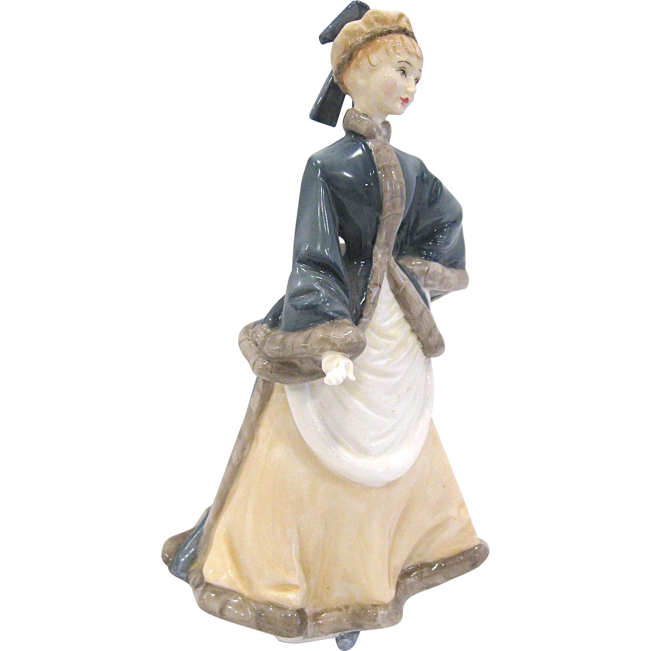 Royal Worcester 1981 Winters Morn Lady Figurine