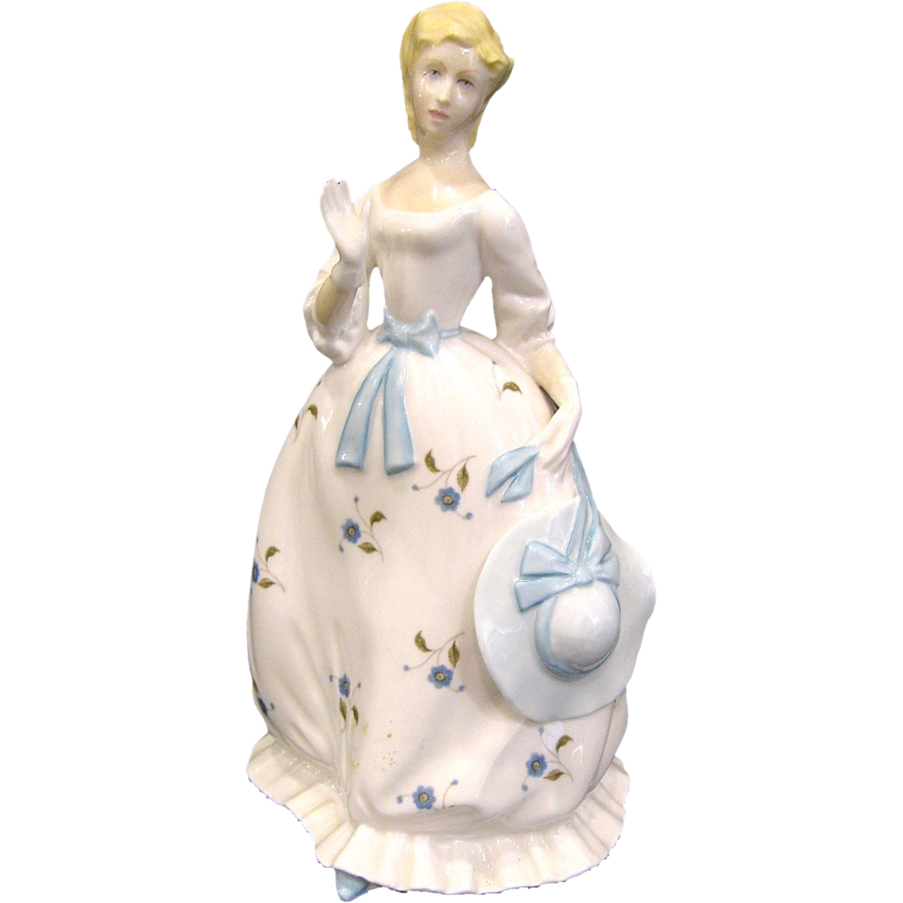 "1978 Royal Worcester Porcelain Lady Figurine ""Summertime"""