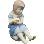 Gerold Porzellan Bavaria Girl with Butterfly on Toe Figurine