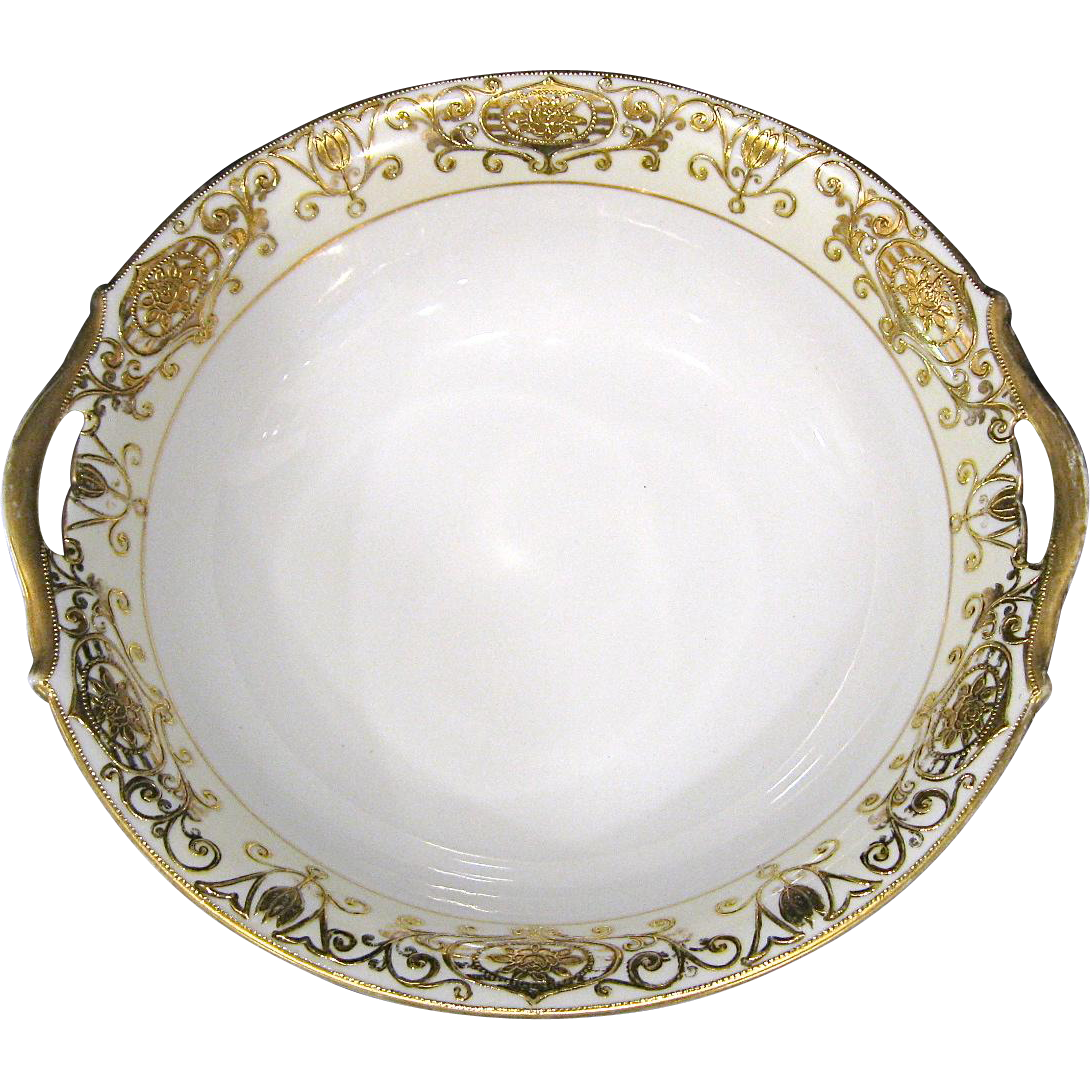 Noritake Christmas Ball 175/16034 Double Handle Bowl