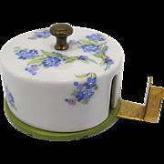 Limoges Porcelain Tape Dispenser, Forget-Me-Nots