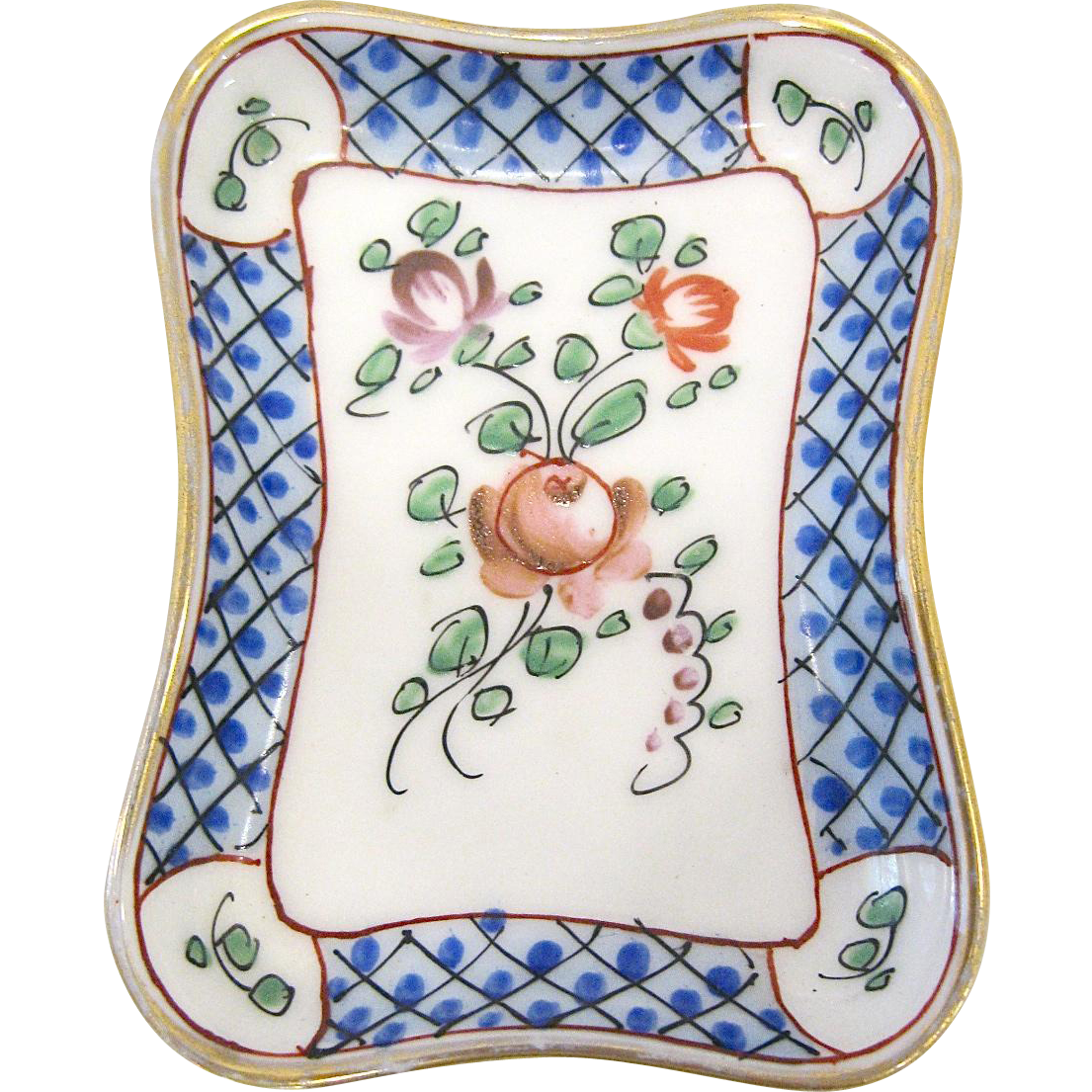 Hand Painted Porcelain Pin or Trinket Tray, France