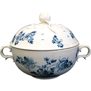 Royal Vienna Blue and White Sugar Bowl with Strawberry Finial