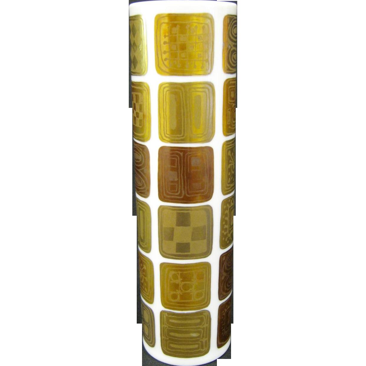 Mid Century Rosenthal Bjorn Wiinblad Quatre Couleurs Vase