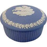 Wedgwood Blue Jasperware Round Trinket Box