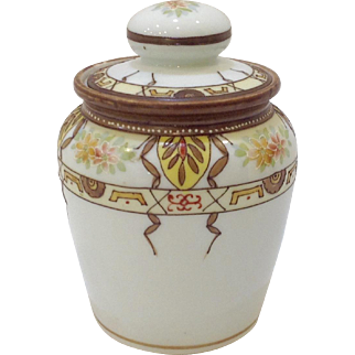 Hand Painted Nippon Porcelain Humidor