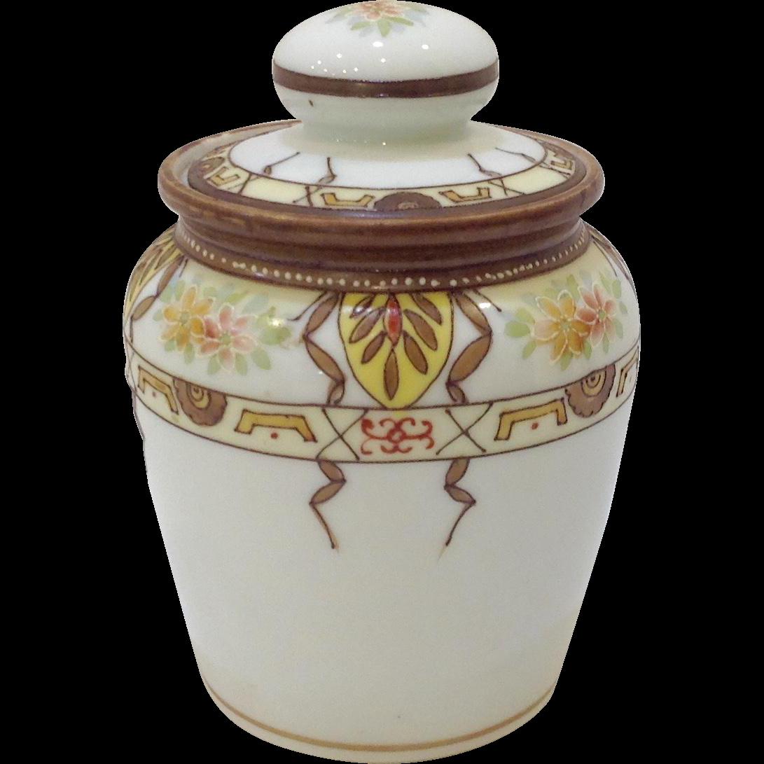 Hand Painted Nippon Porcelain Humidor