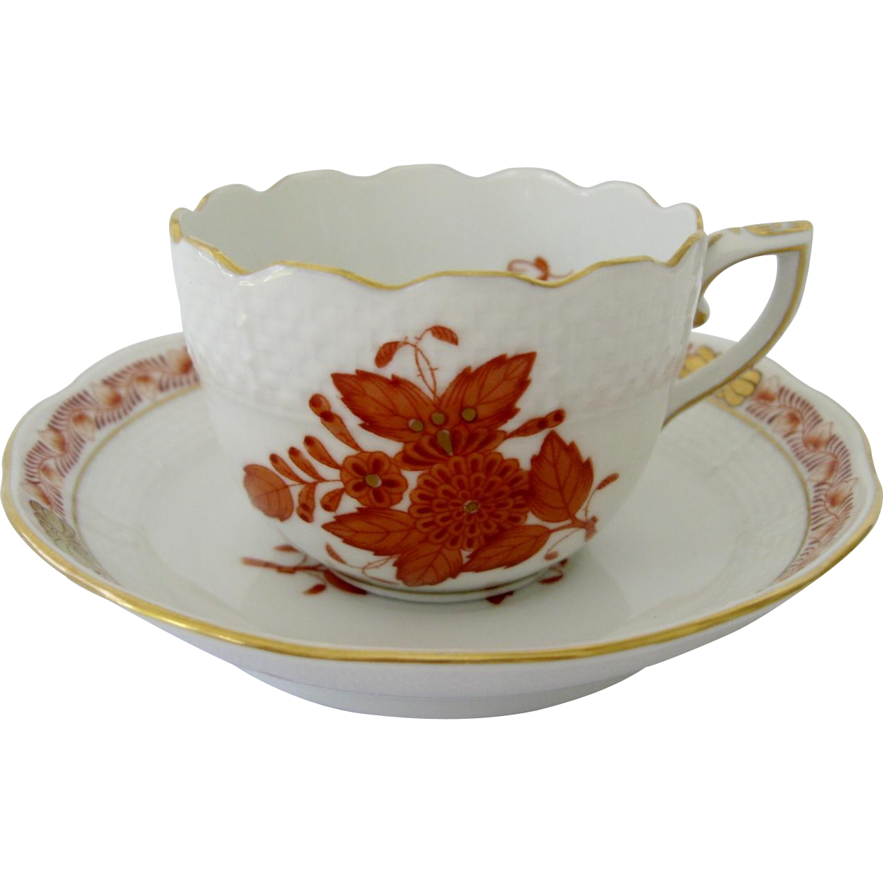 Herend Chinese Bouquet Demitasse Cup and Saucer
