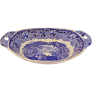 Staffordshire Mason's Vista Oval Vegetable Bowl with Pierced Handles