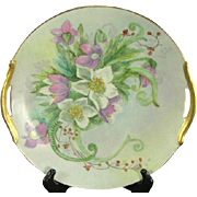 Signed Limoges Handled Cake Plate