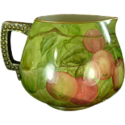 Lenox American Belleek Cider or Lemonade Pitcher, Apples, Signed