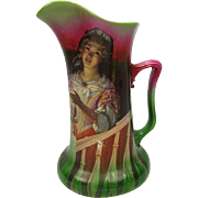 "Royal Bayreuth ""Candle Lady"" Pitcher"