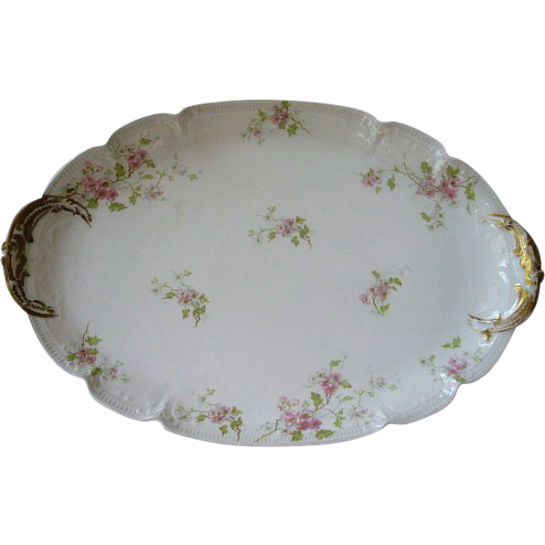 Antique GDA Haviland Limoges Oval Serving Platter