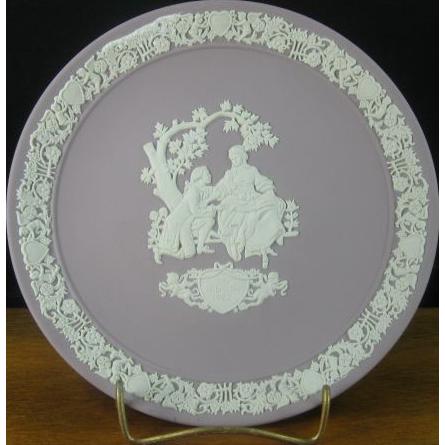 "Wedgwood LILAC Jasperware 6 5/8"" Cabinet Plate"
