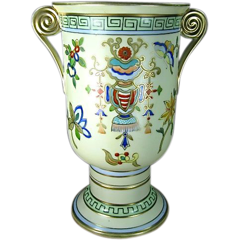 "Exquisite Noritake Nippon Hand Painted Vase 9"""