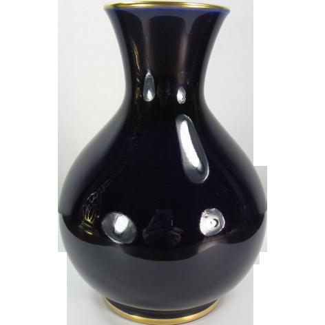 Lomonosov Russia Cobalt Vase