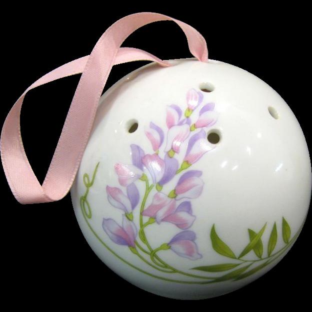 Limoges Porcelain Pomander Ball