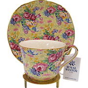 Royal Winton Grimwades Chintz Welbeck Cup and Saucer + Stand