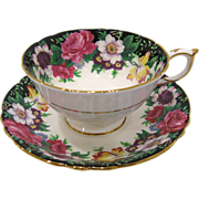 Paragon English Fine Bone China Westdale Cup & Saucer with Display Stand