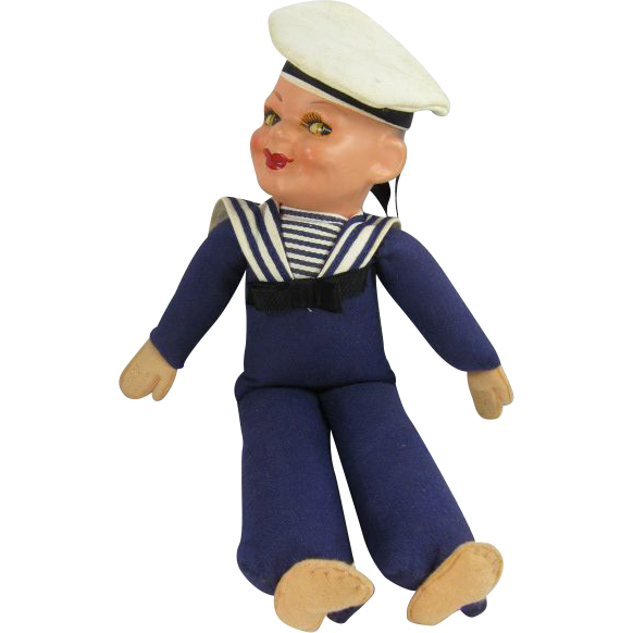 Vintage Norah Wellings Sailor Doll SS Statendam