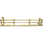 Antique Solid Brass Double Rail Fireplace Fender
