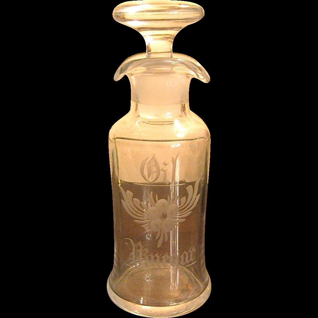 Cambridge Glass French Dressing Oil & Vinegar Bottle
