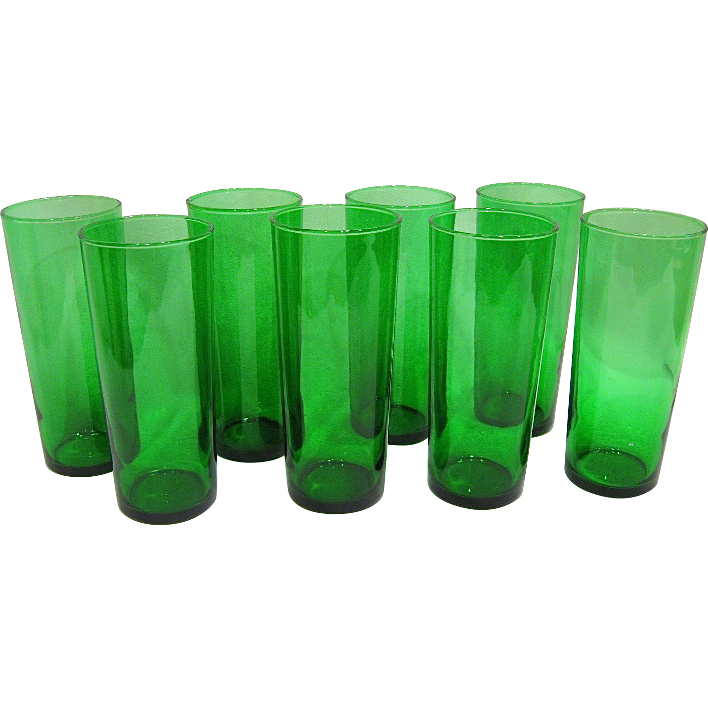 Set of 8 Forest Green 16oz Coolers or Tumblers