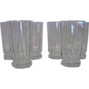 Set of 6 Sevres Crystal Tall HiBall Tumblers