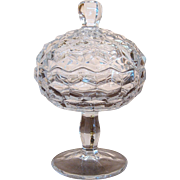 Fostoria American Jam or Jelly Compote with Lid