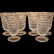 Set of 6 Fostoria American Footed Juice Glasses