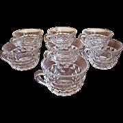 Set of 7 Fostoria American Punch Cups