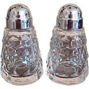 Pair of Fostoria American Salt & Pepper Shakers