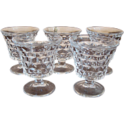 Set of 5 Fostoria American Oyster or Fruit Cocktails