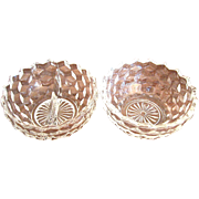 Set of 2 Fostoria American Bowls, One Divided, One Open
