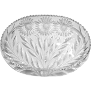 Mt. Washington American Brilliant Glass Late Daisy Tray