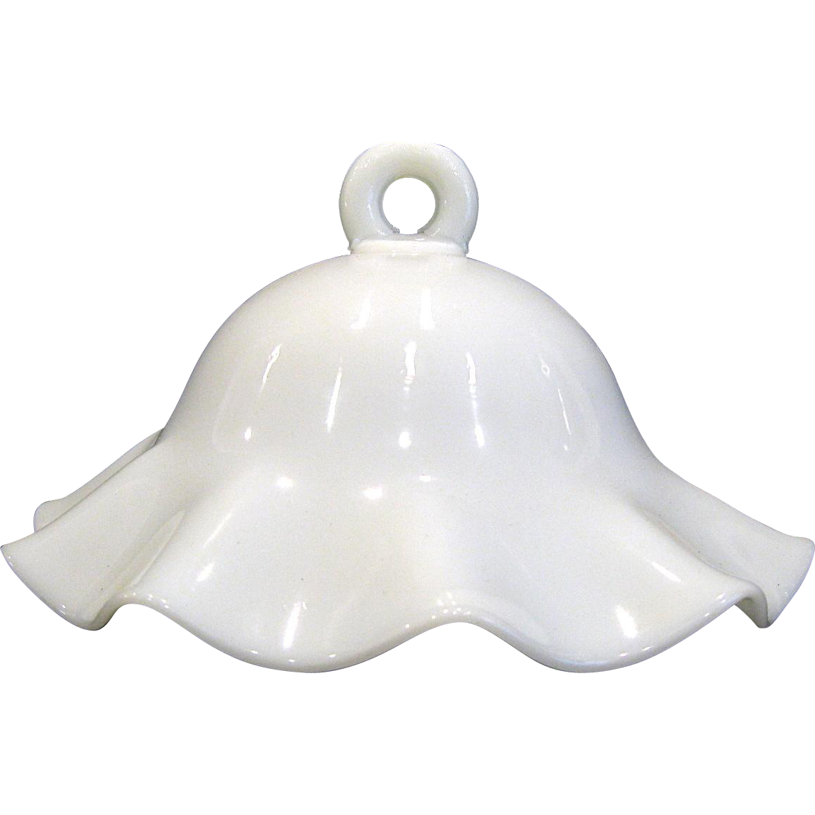 Antique Milk Glass Smoke Bell Shade